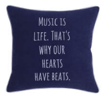 Decorhouzz Embroidered Pillow Case - Christmas Gifts For Music Lovers