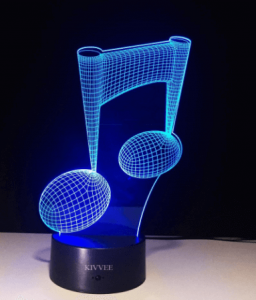 3D Music Note Table Lamp - Christmas Gifts For Music Lovers