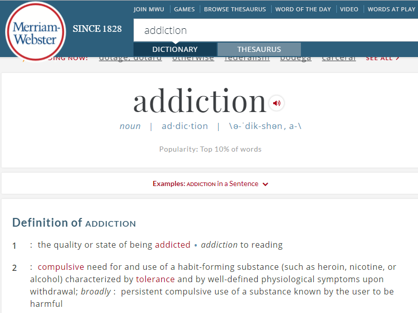 Music Addiction Disorder definition