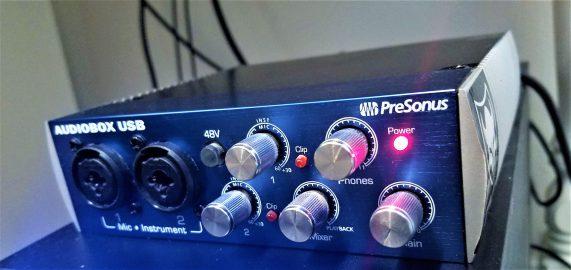 Audiobox Front View - Presonus Audiobox USB Review