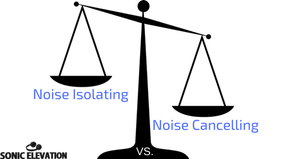 Explaining Noise Isolating vs. Noise Cancelling