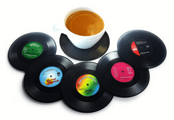Vinyl Record Coasters - 20 Awesome Music Lovers Gifts