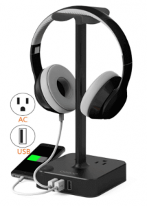 Coozoo Desktop Gaming Headphone Stand with USB charger - Best Headphone Stand