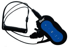 Diver DB-10 4GB Waterproof MP3 Player with Earphones - Waterproof Headphones For Swimming