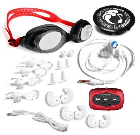 Swimbuds SPORT Headphones and 8GB SYRYN MP3 Player - Waterproof Headphones For Swimming