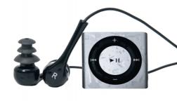 Underwater Ipod Shuffle and Short Cord Waterproof Headphones For Swimming