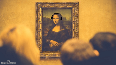 Mona Lisa Wearing Headphones - Difference Between Cheap And Expensive Headphones